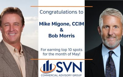 SVN Commercial Advisory Group and Senior Advisors Recognized for May Sales Achievements