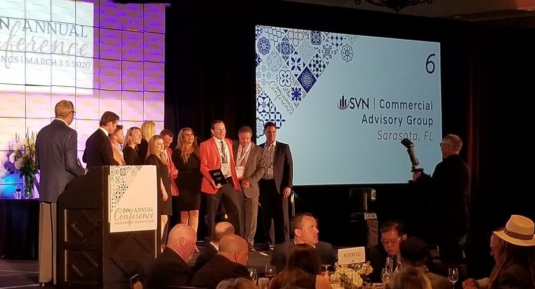 SVN Commercial Advisory Group ranks in Top 10 of SVN International's more than 200 offices